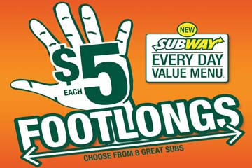 Image result for $5 footlong