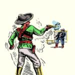 The Assassination of Sheriff James Barton by the Mexican Juan Flores