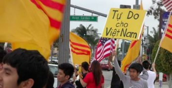 Little Saigon Protestors Show Up in Riverside Like They Always Do And Always Will