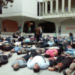 """Cal State Fullerton Faculty and Students Stage Solidarity """"Die-in"""" for Baltimore"""