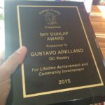 The Text of Gustavo's Speech for the OC Press Club's Lifetime Achievement Award!