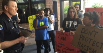 Activists Protest at Anaheim Police HQ, Demand Release of KKK Beaters