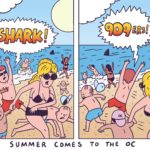 Orange County Gets Invaded by Sharks, 909ers [OC Weekly Editorial Cartoon]