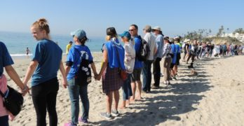 Protest Targets Walters, Rohrabacher, Trump and Oil Drilling Off Orange County Coast