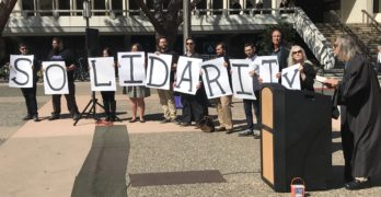UC Irvine Union Coalition Rallies Against Janus Supreme Court Case