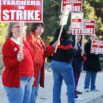 La Habra Teachers On The Picket Lines With No Settlement In Sight; School Day Goes On As Planned
