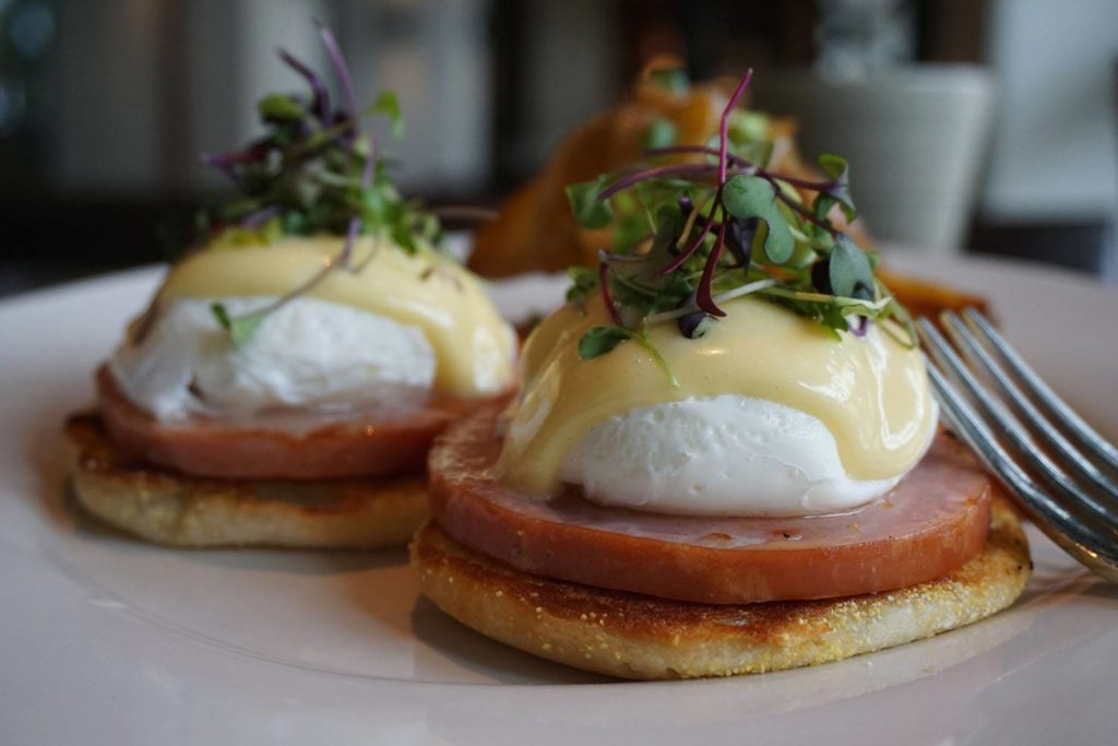 Eggs Benedict from Hyatt Huntington Beach