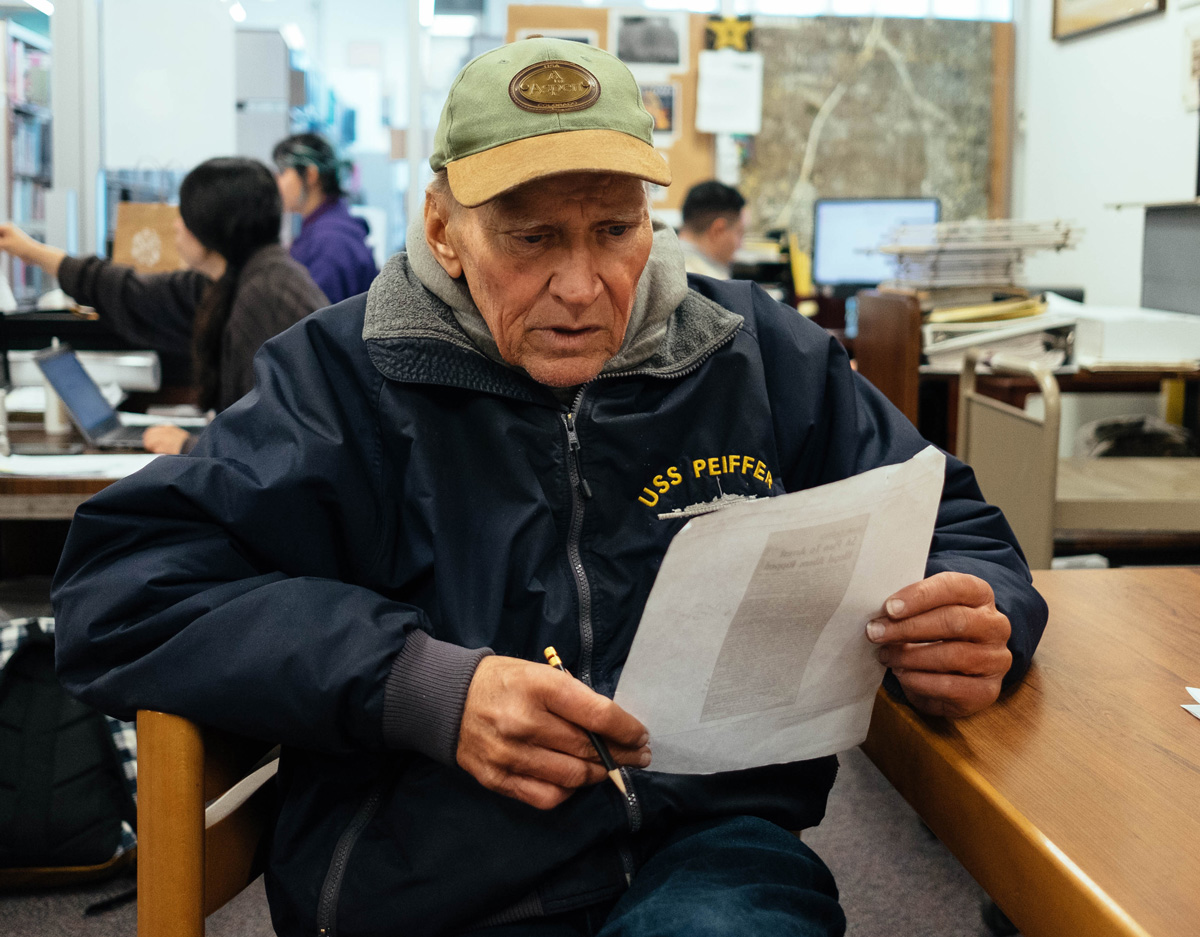 ExReporter Now Homeless Spends Day Reading Papers He Once Wrote For