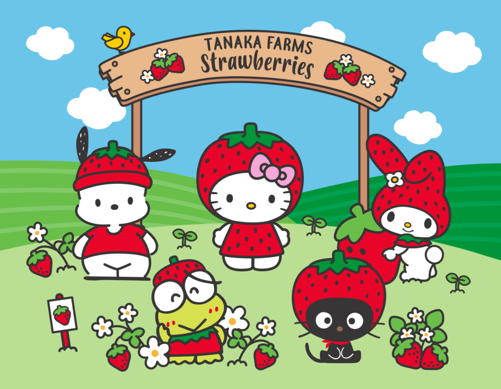 Hello Kitty and Tanaka Farms Strawberry season collaboration