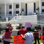 Slumlord's Buena Park Mansion Protested By Tenants Set to Be Evicted Near USC