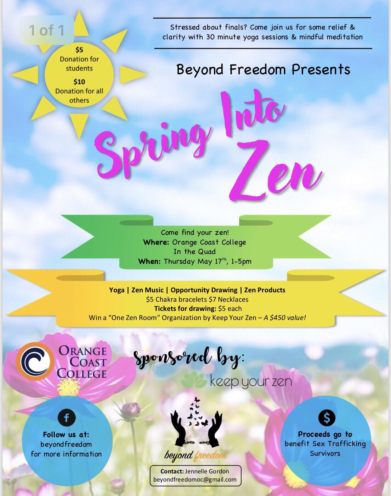Spring Into Zen Mindfulness Event