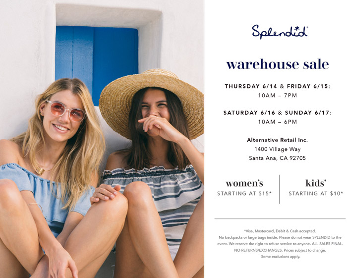 Splendid Warehouse Sale