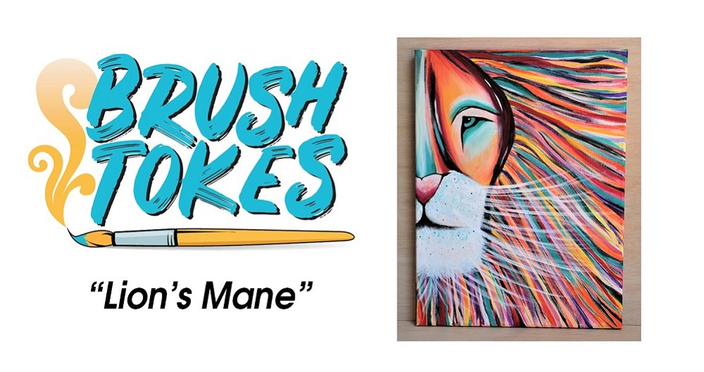 "Brush Tokes 420 Friendly Puff, Sip, and Paint Session - ""Lion's Mane"", Sun. 7/22, 5 PM"