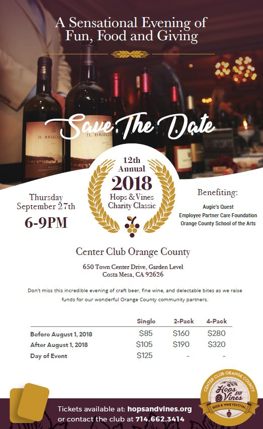 2018 Hops & Vines Charity Classic