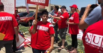Hospital Workers Picket for Better Pay at West Anaheim Medical Center
