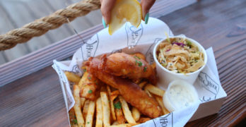 Eat Great Fish and Chips at Circle Hook as You Take in the Newport Harbor Scenery