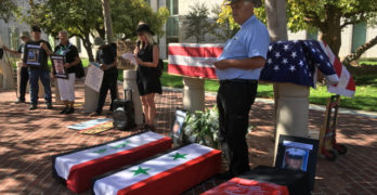 """Victims of War and Governmental Policies """"Mourned"""" in Downtown Santa Ana"""