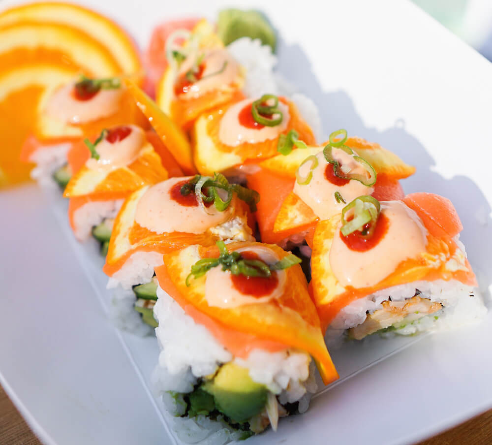 Vegan Citrus Salmon Sushi